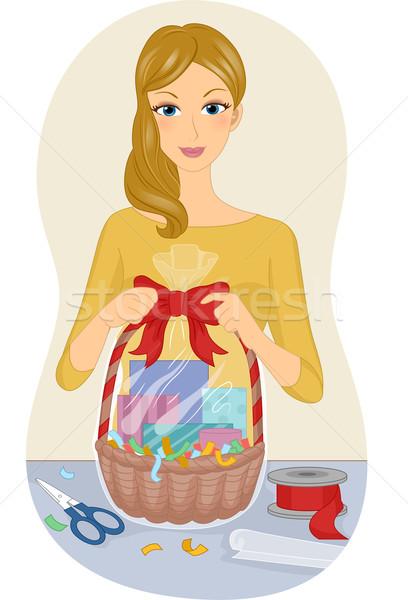 Gift Basket Stock photo © lenm