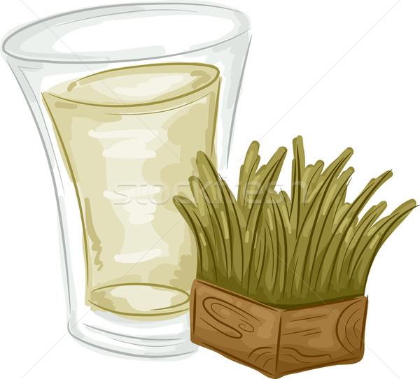Wheatgrass Juice Stock photo © lenm
