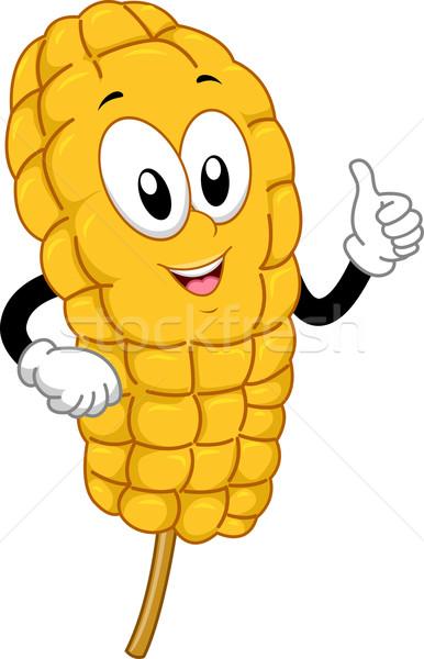 Mascot Food Corn on the Cob Stock photo © lenm