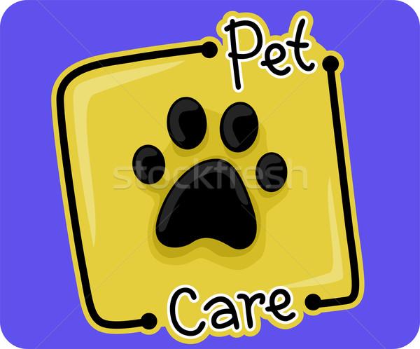 уход за домашними животными икона иллюстрация веб наклейку вектора Сток-фото © lenm