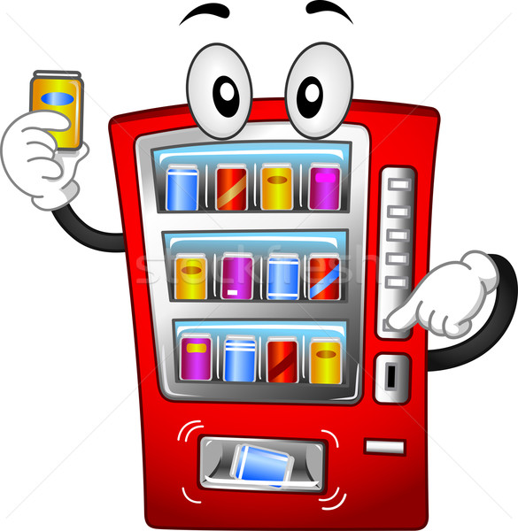 Automaat mascotte illustratie cartoon soda vector Stockfoto © lenm