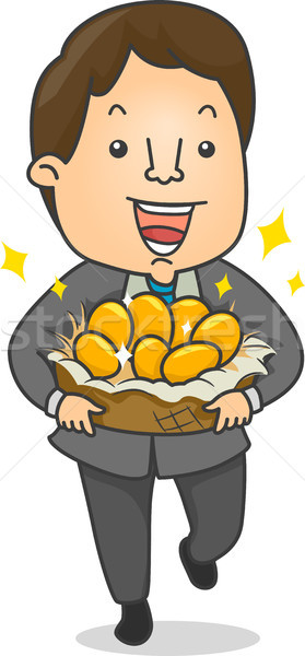 Businessman with Golden Eggs Stock photo © lenm