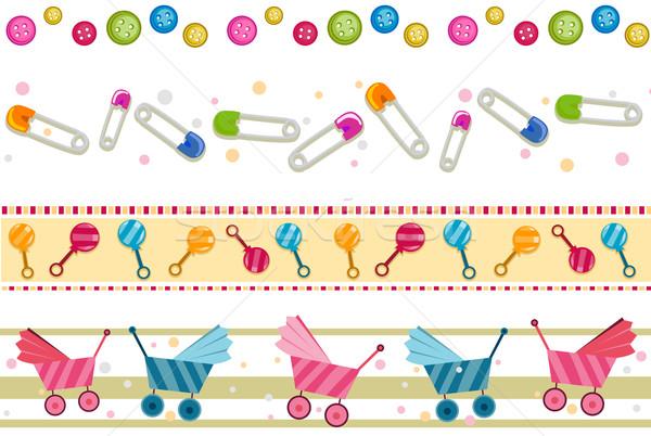 Baby Borders Stock photo © lenm