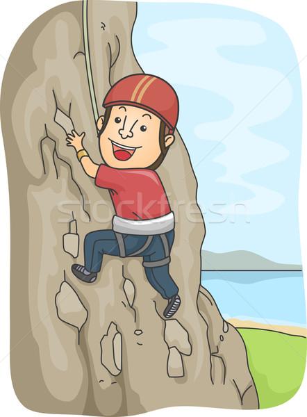 Rock Climber Stock photo © lenm