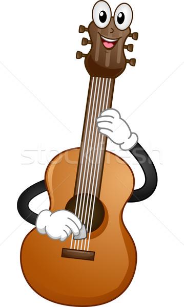 Guitarra acústica mascota ilustración música guitarra músico Foto stock © lenm
