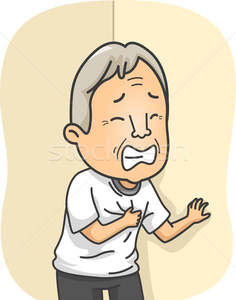 Senior attacco di cuore illustrazione anziani uomo medici Foto d'archivio © lenm
