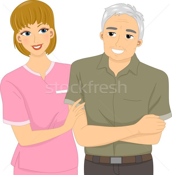 Nurse and Patient Stock photo © lenm
