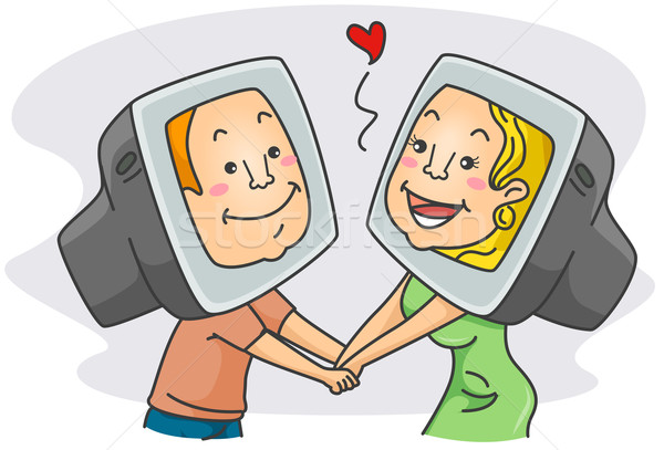 Online Romance Stock photo © lenm