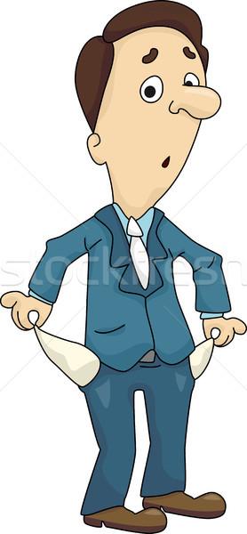 Homme vide poche illustration à l'intérieur Photo stock © lenm
