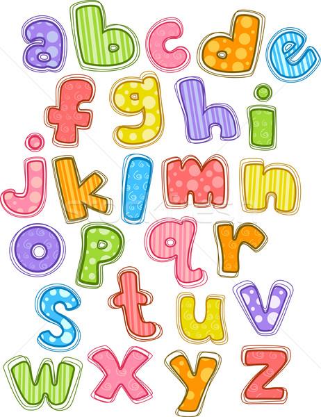 Cute Alphabet Small Letters Stock photo © lenm