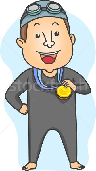 Swimming Champion Stock photo © lenm