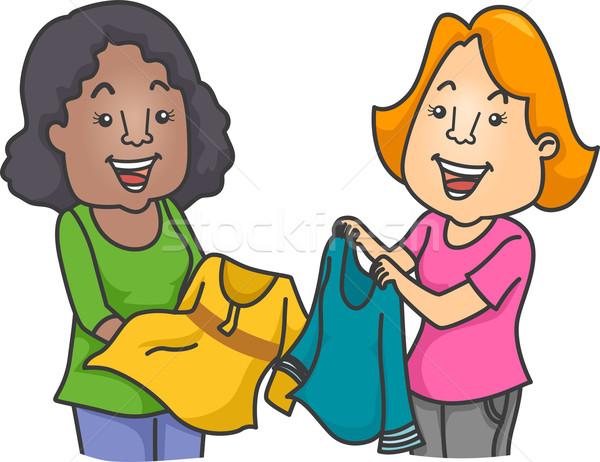 Clothes Swap Stock photo © lenm