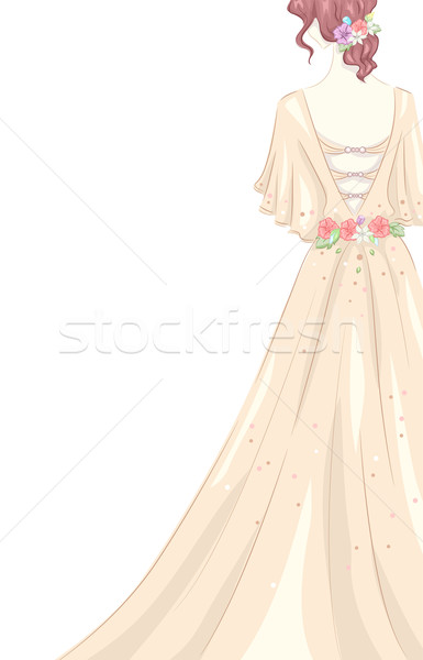 Shabby Chic Gown Stock photo © lenm