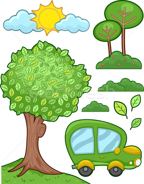 Green Car Stock photo © lenm