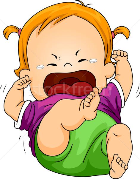 Bebé berrinche ilustración nina jóvenes Foto stock © lenm