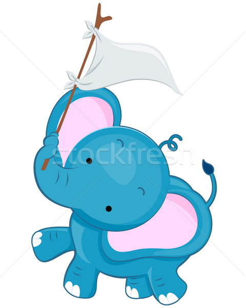 Cute Elephant Stock photo © lenm
