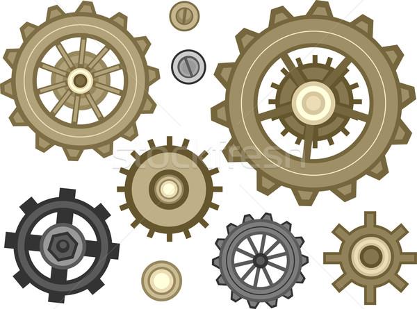 Cogwheel Designs Stock photo © lenm