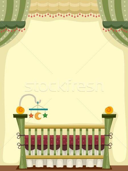 Vintage Crib Stock photo © lenm