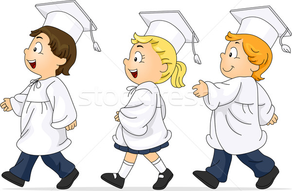Graduation March Stock photo © lenm