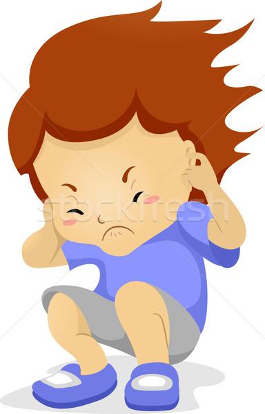 Kid oren illustratie jongen jonge mannelijke Stockfoto © lenm