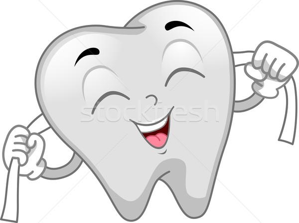 Сток-фото: зубов · талисман · иллюстрация · чистой · Cartoon · здравоохранения