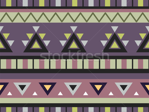 Aztec Print Background Stock photo © lenm