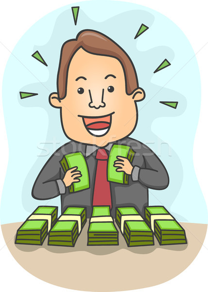 Businessman with Lots of Money Stock photo © lenm