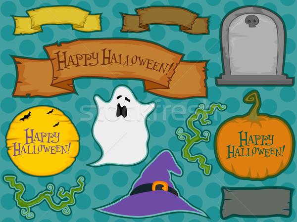 Halloween ilustracja inny wakacje cartoon Zdjęcia stock © lenm