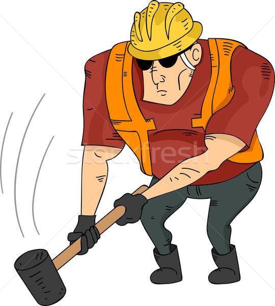 Homem ilustração muscular construção Foto stock © lenm
