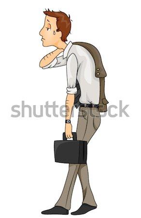 Moe zakenman home emotie vector Stockfoto © lenm