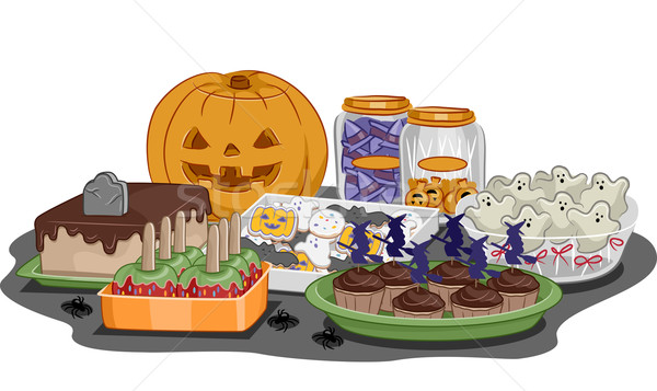 Halloween Party Food Stock photo © lenm