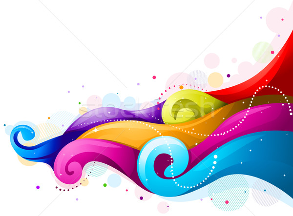 Abstract Rainbow Wave Stock photo © lenm