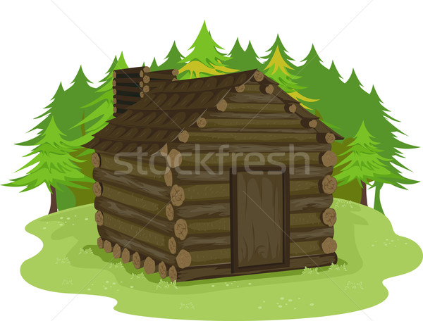 Log Cabin Stock photo © lenm