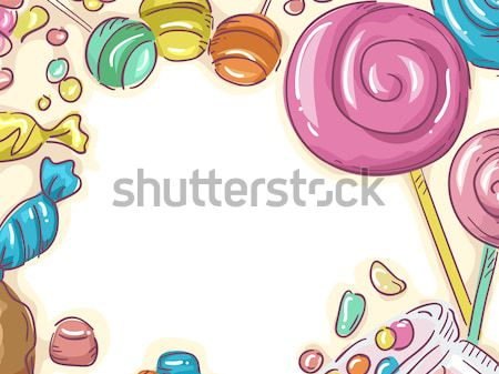 Sweets Sketch Frame Stock photo © lenm