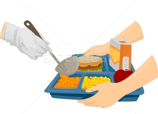 カフェテリア 食品 実例 調理 ドリンク ストックフォト © lenm