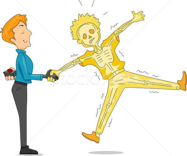 Elétrico aperto de mão ilustração homem brincadeira Foto stock © lenm