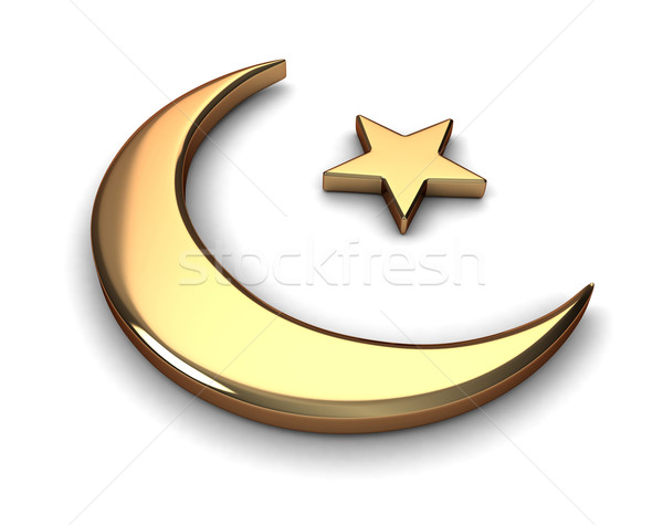 Islam symbool 3d illustration star godsdienst moslim Stockfoto © lenm