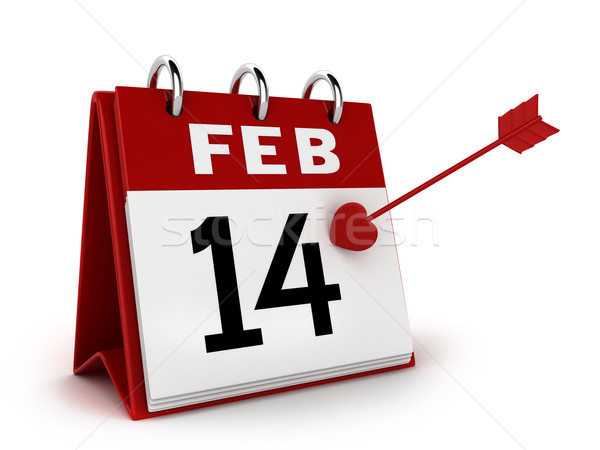 Stock photo: Valentine's Day Calendar
