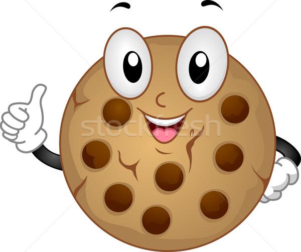 Foto stock: Cookie · mascota · ilustración · alimentos · postre