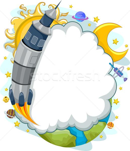 космическое пространство ракета запуск облаке кадр фон Сток-фото © lenm