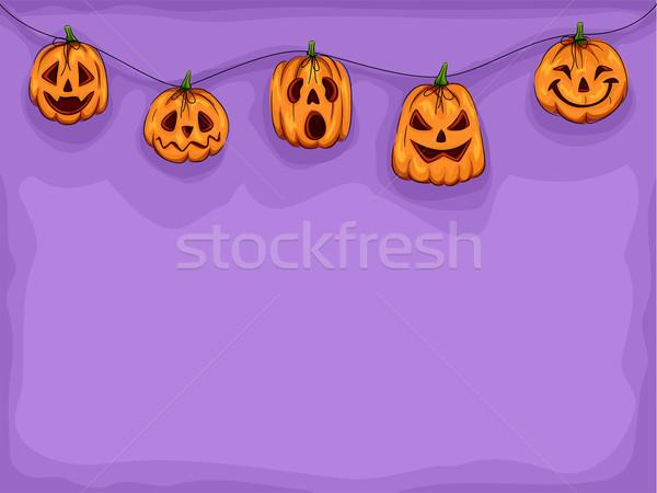 Pumpkin Heads Stock photo © lenm