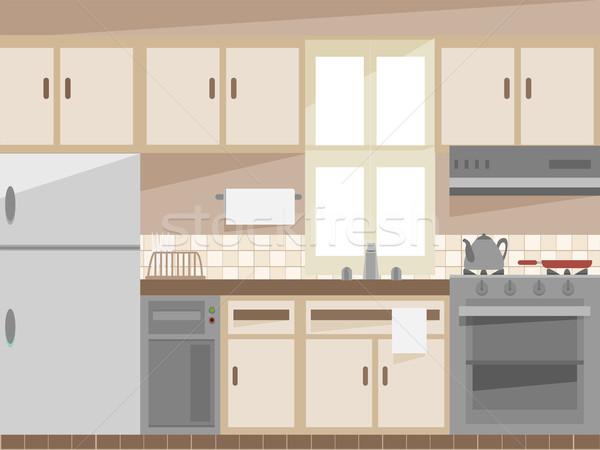 キッチンのインテリア 実例 インテリア キッチン ルーム デジタル ストックフォト © lenm