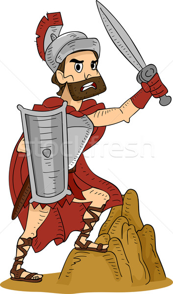 Roman Warrior Stock photo © lenm