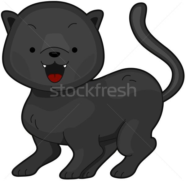 Panther иллюстрация Cute Leopard clipart Сток-фото © lenm