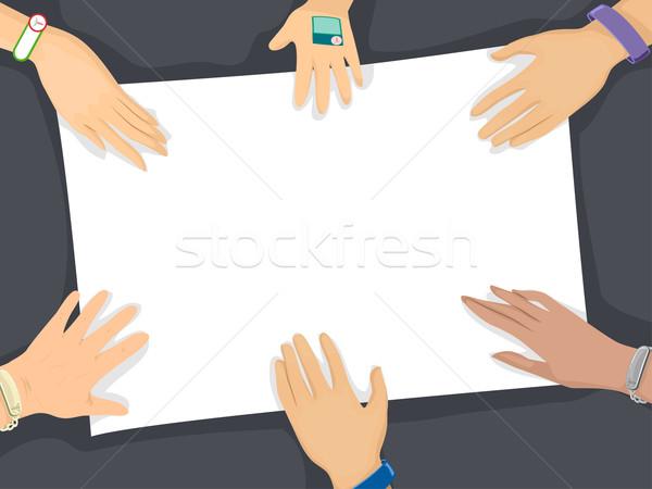 Medici bracciale bordo illustrazione mani indossare Foto d'archivio © lenm