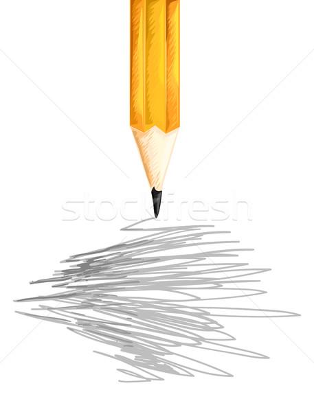 鉛筆 ランダム 実例 物事 書く 絵画 ストックフォト © lenm