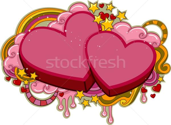 Hearts Stock photo © lenm