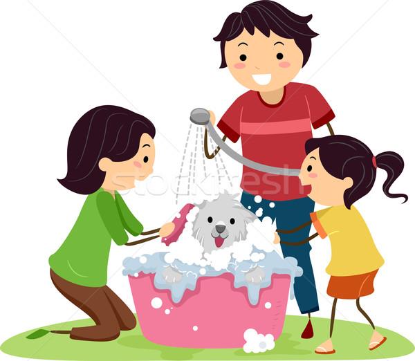 Dog Bath Stock photo © lenm