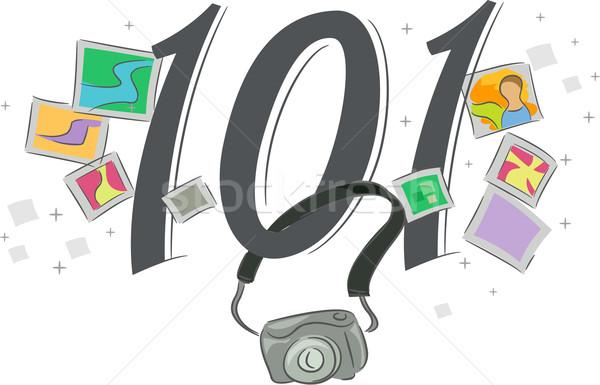 Fotografie 101 illustratie web typografie Stockfoto © lenm