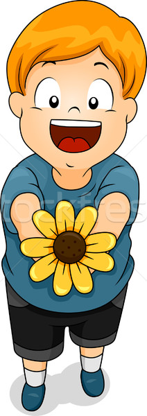 Flower Boy Stock photo © lenm